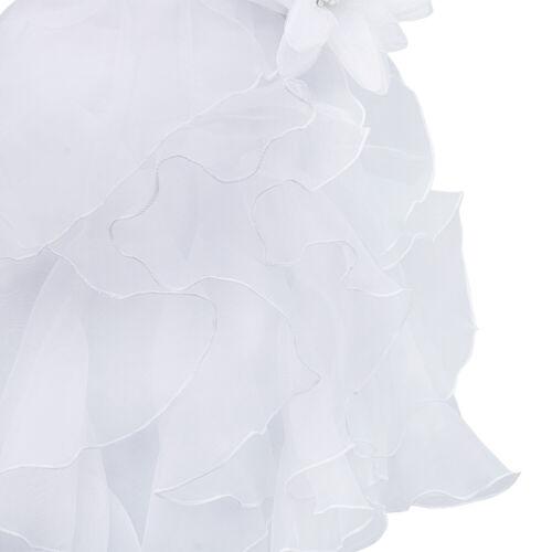 Baby Girls Rhinestone Princess Wedding Pageant Party Ruffle Flower Girl Dress