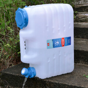 Plastic-Camping-Drinking-Water-Storage-Buckle-Container-Carrier-Tank-10-5L