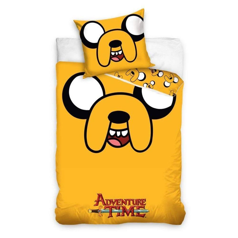 JAKE THE DOG ADVENTURE TIME YELLOW SINGLE DUVET AND PILLOWCASE