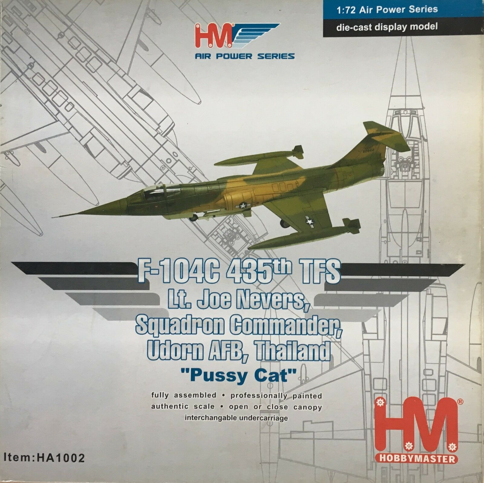 Hobby Master 1/72 HA1002 F-104C  Pussy Cat' 435th TFS Lt Joe Nevers Sqn Cdr