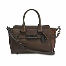 96fd6310de09 Coach 59505 Mixed Leather Light Saddle Swagger 27 Satchel for sale ...