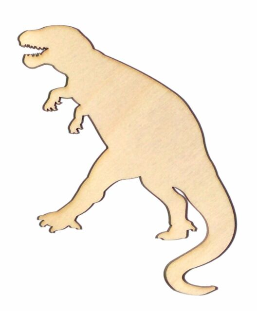 T Rex Unfinished Flat Wood Shapes Cut Outs TR803 Variety Sizes Laser Crafts