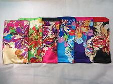 "*US Seller*lot of 5 wholesale large 39"" satin square wraps Women Head Scarves"
