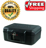 Sentry Safe Fireproof Fire Chest Security Lock Money Document Stash Gun Box,