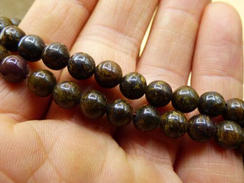 Bronzit 6mm Edelstein Perlen Stränge Hobbyauflösung Bastel Armbänder