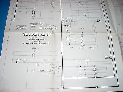 chicago wiring diagram chicago coin gold crown bowler 1962 schematic original full wiring  chicago coin gold crown bowler 1962