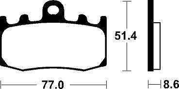 06-13 Pastillas de freno BREMBO BMW R 1200 GS ADVENTURE delanteras 07BB26.SA