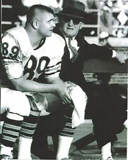 MIKE DITKA & GEORGE HALAS 8X10 PHOTO CHICAGO BEARS PICTURE NFL FOOTBALL