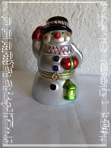 Boite-a-Musique-Animee-Bonhomme-de-Neige-Mr-Christmas-Neuve