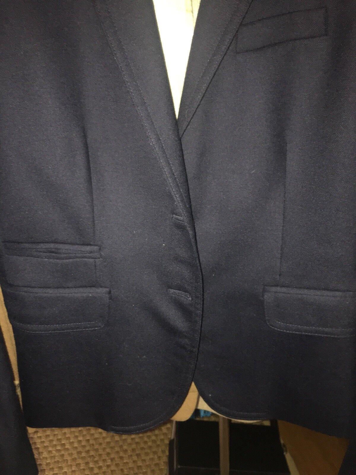 J. Crew Women's Navy Wool gold Buttons Schoolboy Blazer Size 6