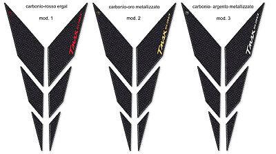 Kit de Pegatinas Resina Tmax 530 Boomerang Compatible para Yamaha T MAX de 2017 Carbono Rojo ALU