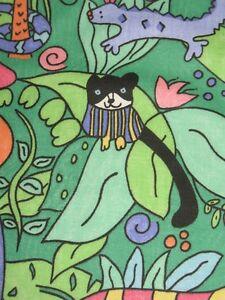 Bty vtg bright juvenile novelty jungle animal cotton decor for Kids jungle fabric