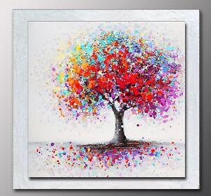 Quadri moderni dipinto albero della vita dipinti a mano for Dipingere quadri moderni