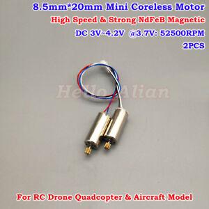 8.5mm*20mm DC3.7V 6V 50000RPM High Speed Mini Coreless Motor RC Drone Quadcopter
