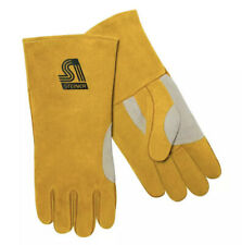 Steiner 021nt Natural Thumb Side Split Cowhide Stick Welding Gloves Large