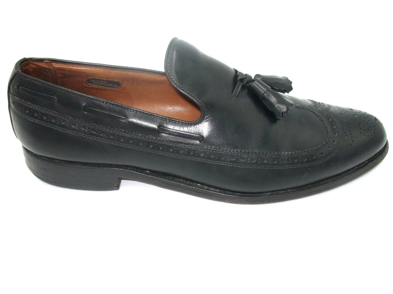 Allen Edmonds Berwick Black Leather Wingtip Tassel Loafer Dress shoes Mens 11 N