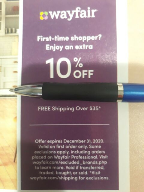 Wayfair Com 10 Off Your First Order Promo Code Email Delivery Sent In Minutes For Sale Online Ebay