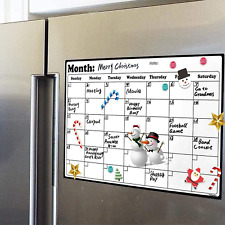 Fridge Calendar Magnetic Dry Erase Calendar Whiteboard Calendar For Refrigerator