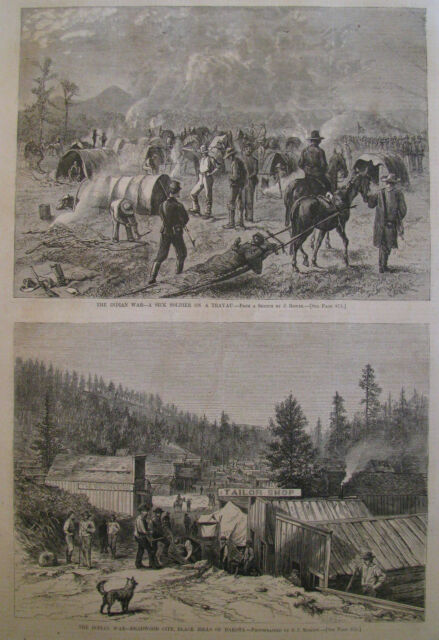 VIEW DEADWOOD CITY BLACK HILLS DAKOTA HARPER'S WEEKLY 1876