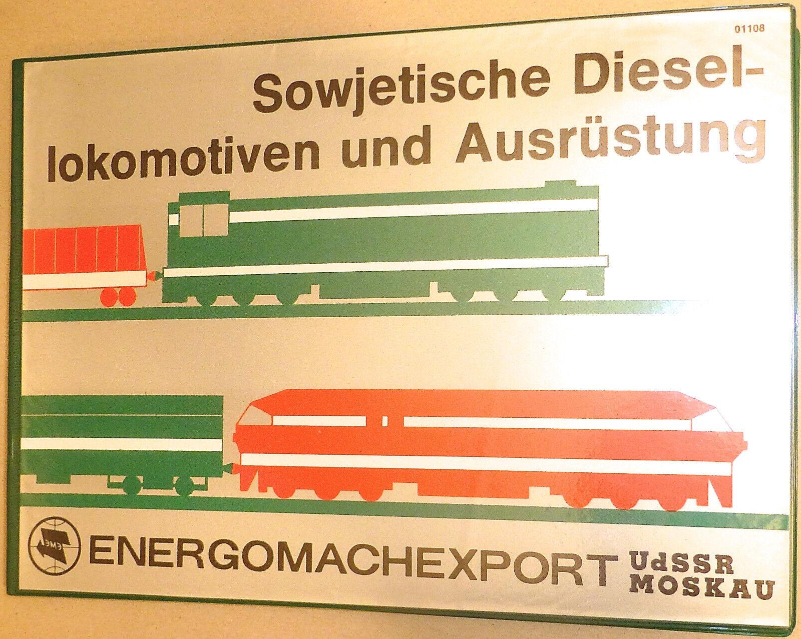 Sovietica Diesel Locomotive e attrezzature energomachexport URSS MOSCA Å *