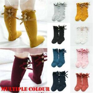 Lovely-Baby-Kids-Toddlers-Girls-Socks-Bow-Knee-High-Long-Soft-Cotton-Warm-Socks