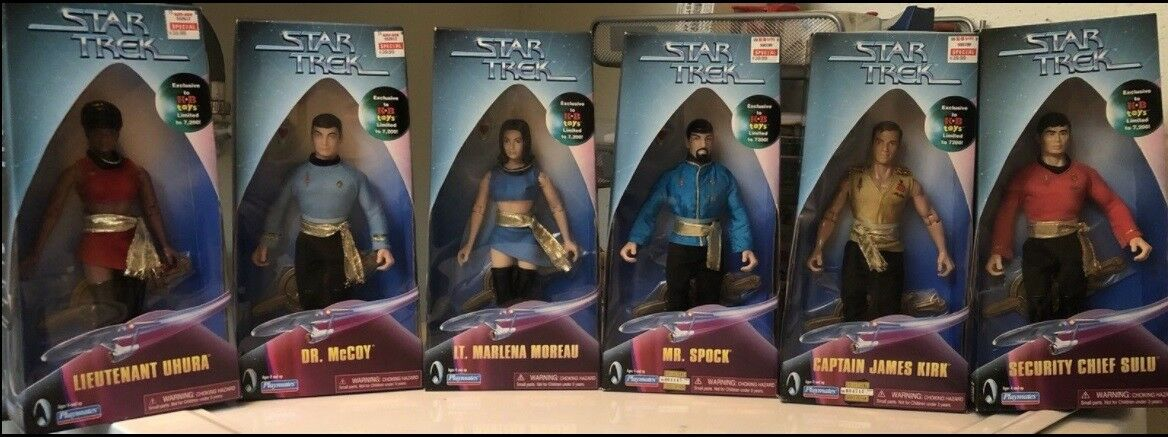 ULTRA-RARE KB KB KB TOYS EXCLUSIVE-ALL 6 STAR TREK TOS