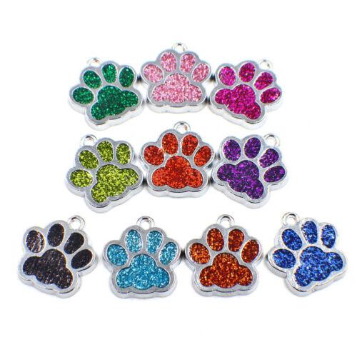 3Pcs Charm Crystal Haustier Hund Pfote Fußabdruck Anhänger Schöne Schmuck Gut