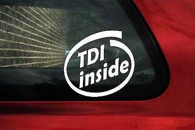 2x TDI inside stickers / vag decals - for Volskwagen. VW turbo diesel GTD