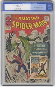 Amazing Spider-Man #2 CGC 3.0 HIGH GRADE Marvel Comic Ditko Lee KEY 1st Vulture