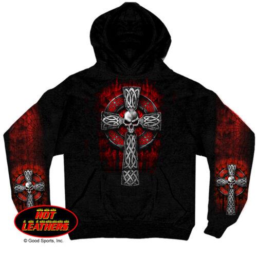 CELTIC CROSS SKULL Kapuzenpullover Hooded Sweatshirt Harley Hoodie Gothic Rock