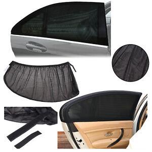pare soleil protecteur de voiture r glable a fen tre extractible grille noire ebay. Black Bedroom Furniture Sets. Home Design Ideas