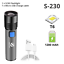 Super Bright 10000LM Zoomable LED Flashlight 3-Mode Torch Lamp Waterproof NEW