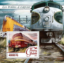 Guinea 2016 MNH Steam Trains Engines Locomotives 1v S/S Railways Stamps