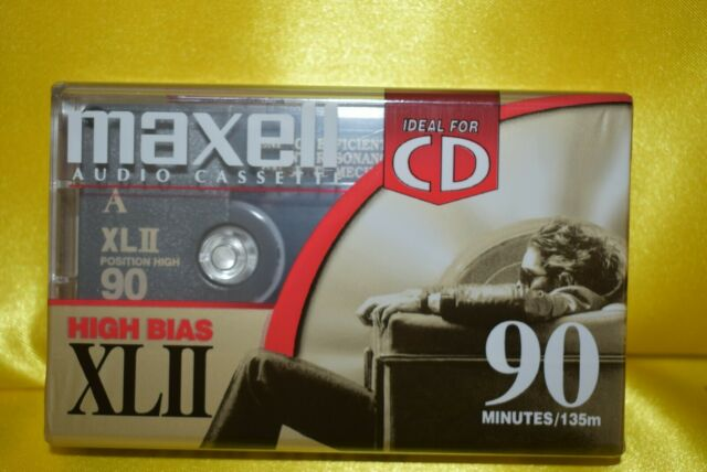 1 New Sealed Maxell XLII 90 Min High Bias Blank Audio Cassette Tape