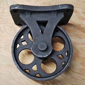 Details About Set 4 Solid Iron Vintage Rustic Antique Black Caster Casters Wheels