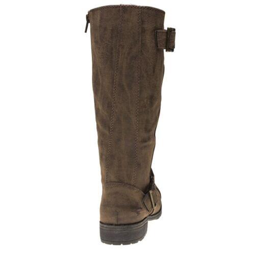 Rocket Womens Buckle Brown Zip Knee Pu New Dog High Berry Støvler 5TqwPHdg4x
