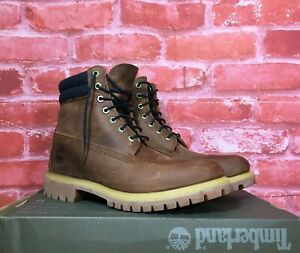 Details about TIMBERLAND MEN'S PREMIUM 6 INCH DOUBLE COLLAR WATERPROOF BOOT BROWN A1QZJ SIZES
