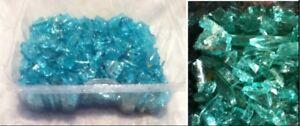 Mosaic-Art-Arcoroc-France-3-lb-Broke-Glass-Pieces-Turquoise-Aqua-Teal-Green-Blue