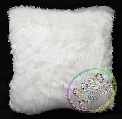 Fm48a Off White Thick Feel Faux Fur Pillow Case/Cushion Cover *Custom Made Size