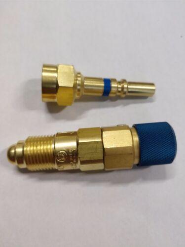 Argon Inert Gas Regulator to Hose Quick Connect//Connector Disconnect Set QDB33