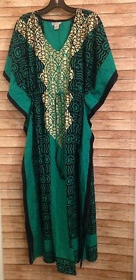 j gee Green maxi muumuu dress