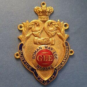 RAOB Jewel - Brass and Enamel Plaque - Roman Way Lodge No. 9342