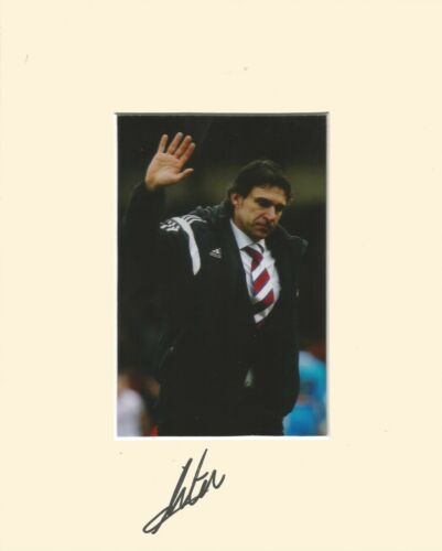 10 x 8 inch mount personally signed by Aitor Karanka Middlesbrough on 10.02.15