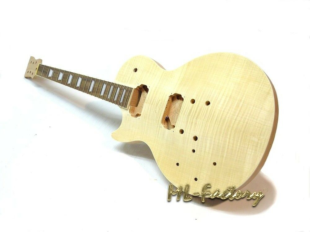 Linkshand E-Gitarren-Bausatz ML-Factory® MLP Standard Mahagoni Flame Top