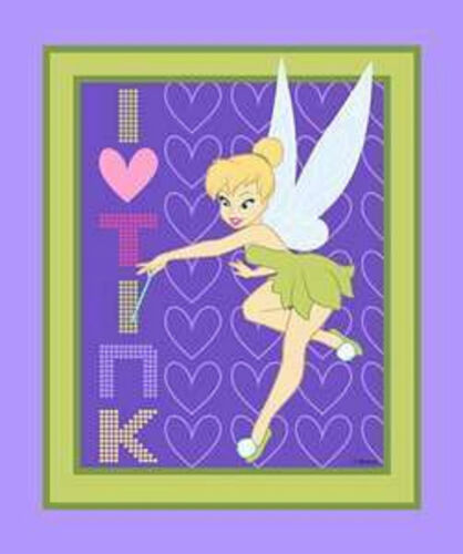 Disney I Heart Tink Tinkerbell Quilt Panel by Springs Creative btp
