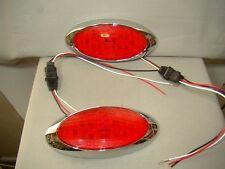oval flush mount LED tail lights for rat rod custom lead sled hot rod car truck