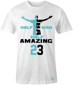 034-Half-Man-Half-Amazing-034-T-shirt-to-Match-Retro-034-Light-Aqua-034-12-039-s