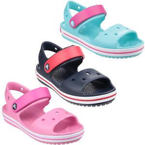 Crocs-Crocband-Sandalias-De-Verano-Tira-Croslite-para-ninos-y-Ninas-Zapatos