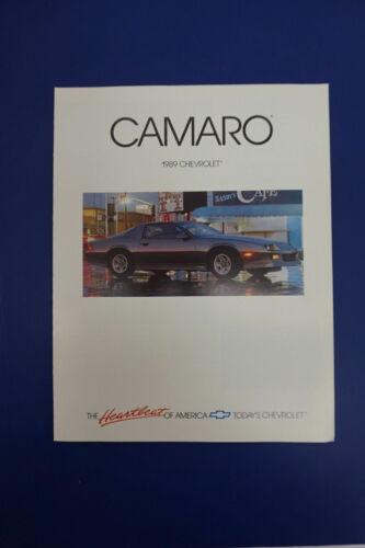 NOS 1989 Chevrolet Camaro Dealer Showroom Brochure Pamphlet