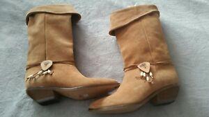 ZODIAC-8-5-M-SUEDE-Women-039-s-2-034-Heel-Western-Boots-NEW-Original-price-137-95